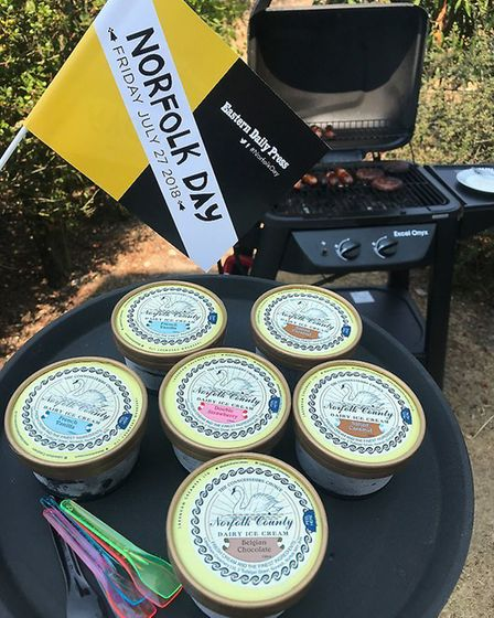 The Breakwater BBQ featuring some delicious Norfolk sausages and ice cream. Happy Norfolk Day from a