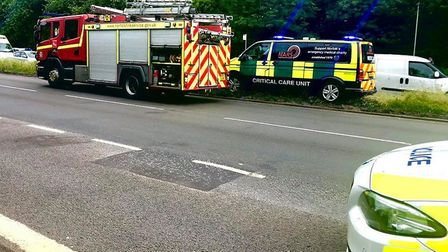A woman in her 80s has died in a crash in Dereham Road, Norwich. Photo: NARS