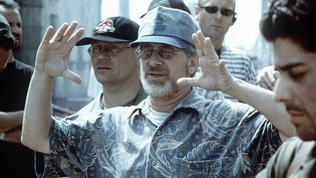 Film director Steven Spielberg on the set of Saving Private Ryan. Picture: Paramount/PA