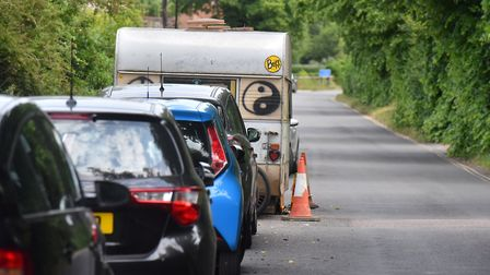 An eviction notice has been served to caravans on Whitlingham Lane, Trowse. Picture: Jamie Honeywood