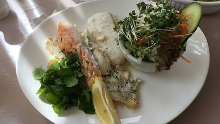 Trio of fish at The Old Feathers