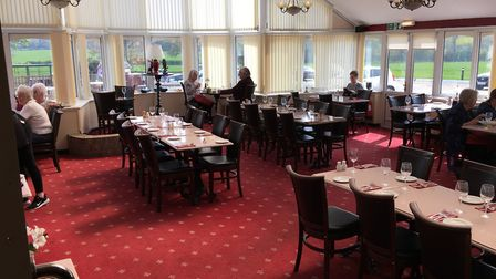 The main dining area at The Old Feathers, Framingham Pigot. Photo: Archant