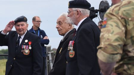 The rehearsals get under way for the inauguration of the national British Normandy Memorial site at