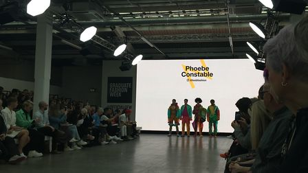 On the catwalk at Graduate Fashion Week: the No Man is an Island collection by Norwich University of