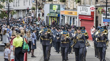 The RAF Honington freedom of Thetford parade makes its way through the town Picture: Cpl Steve Buck