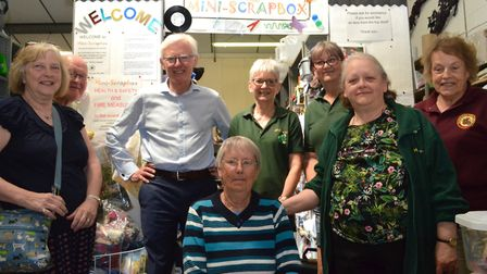 MP Norman Lamb visited Scrapbox in Reepham. Picture: ANDREW WHITEHEAD