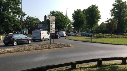 Work has started on the Fiveways roundabout in Norwich. Pic: Dan Grimmer