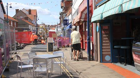 Some trader have taken the opportunity to put tables and chairs outside their businesses while High