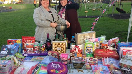 The tombola at Christmas on the Mag event Picture; Rev Matthew Price