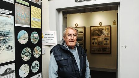 Tony Armstrong at the entrance to the former bank vault, which has been converted into a cinema show