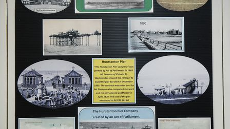A display on the history of Hunstanton's pier, before it blew down in a storm in the 1970s Picture: