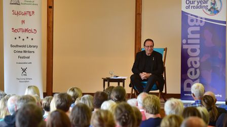 A previous 'Slaughter in Southwold' as the special crime writers' festival attracts the crowds. PHO