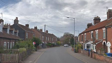 A taxi driver was threatened with a knife before two men stole his car in Bull Close Road, Norwich.