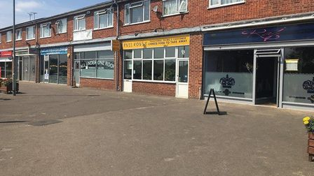 Parade of shops on Admirals Way, Thetford outside which Heinbergs was arrested for being in possessi