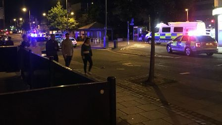 The scene after the stabbing on Rose Lane on Friday night. Picture submitted