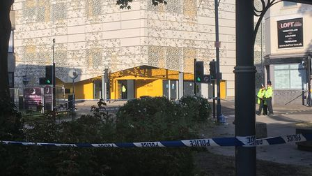 The barriers at Rose Lane car park have been lifted after a fatal stabbing. Picture: Dominic Gilbert