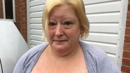 Gemma Wiles from Harleston was left badly shaken when her car was hit by an object on the A143 . Pic