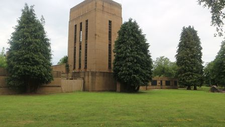 The West Raynham Business Park water tower is one of the lots that are being auctioned off. Picture:
