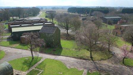 A view from the West Raynham Business Park from the water tower. The site is a former RAF base. Pict