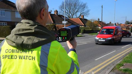 South Norfolk community speedwatch volunteers registered more than 500 drivers over the speed limit