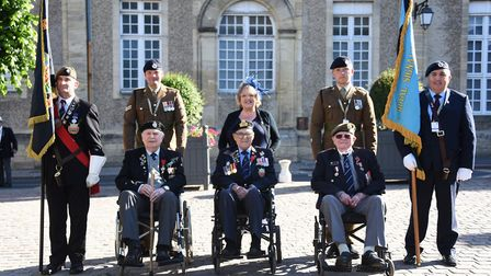 The Norwich and District Normandy veterans arrive in Bayeux for the D-Day 75 Service of Remembrance