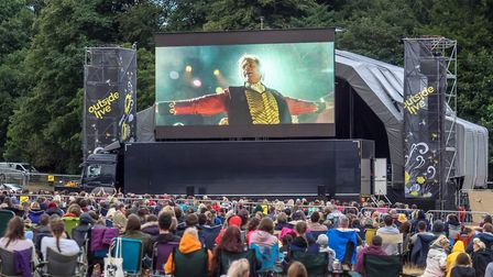 The Greatest Showman Outdoor Cinema from Outside Live Credit: John Newstead
