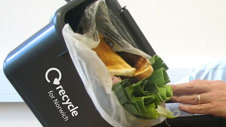 Norwich City Council is trying to get more people to recycle food waste. Pic: Archant Library.