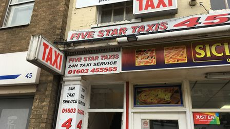 The driver carjacked in Bull Close Road worked at Five Star Taxis. Photo: Archant