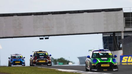 Dan Zelos in car 445, supported by Evergreen Tyres/CAM Systems, heads for the podium in the second o