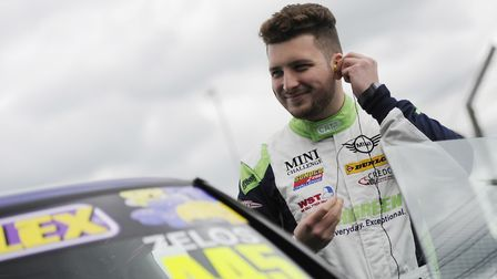 Dereham's Dan Zelos happy with his podium finish in the latest round of the Mini JCW Challenge at th