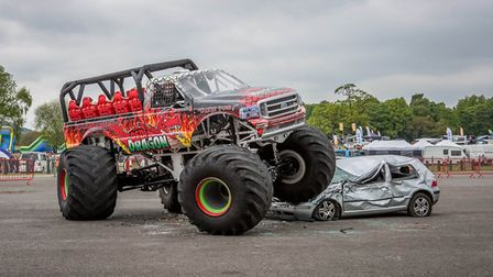 The Red Dragon monster truck in action. It is coming to the Great Yarmouth Wheels Festival on July 6