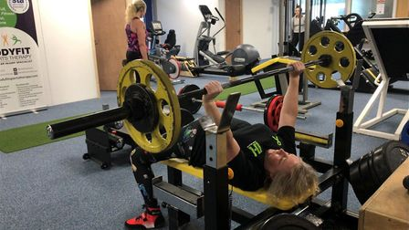 Mandy Bush, who works in water management services, began powerlifting when she was 45 years old and