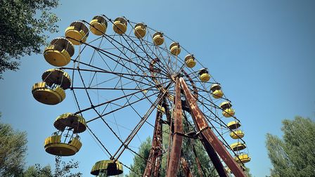 Abandoned May Day fun fair which was never used in Chernobyl. Photo credit: David Baker (sophos9).