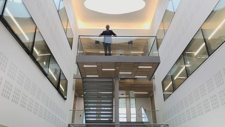 Dr Chris Bushby, the CEO of The Big C, inside the Centrum Institute. Picture: Ella Wilkinson