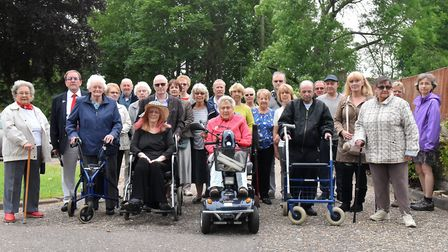 The residents of Ryrie Court are concerned about the plan to build new homes close to their sheltere