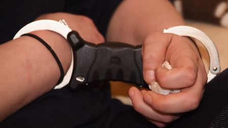 One person was detained after up to £10,000 of suspected Class A and Class B drugs were recovered al