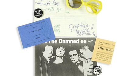 Auction highlights include official Sex Pistols promo posters, rare prints from The Clash, The Damne