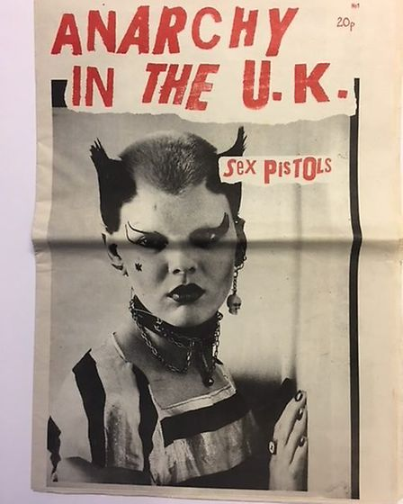 Anarchy in the UK, Sex Pistols poster. Picture: Steven Ashley/ Punk in the East