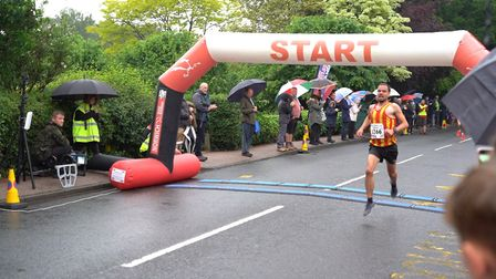 Piers Arnold takes victory at race two of the Wroxham 5K Series. Picture: Tony Thrussell