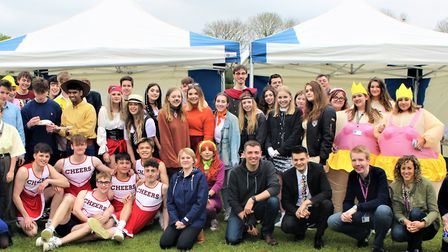 Attleborough Academy year 13 leavers embraced the fancy dress theme on their last day. Photo: Submit