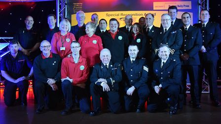 The Norfolk Marshland rescue team win the Special Recognition award at the Stars of Norfolk and Wav