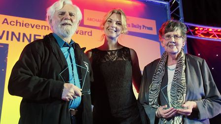 Barry Watkins and Janet Rope, right, joint winners of the Lifetime Achievement award at the Stars of
