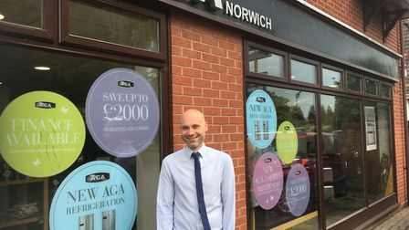 Chris Smith, manager of AGA furniture on Plumstead Road in Norwich. Picture: Archant