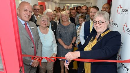 Lowestoft mayor Alice Taylor and Inspire Suffolk CEO Terry Baxter open the refurbished Colville Hous