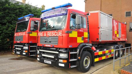 High volume pump from at Thetford Fire Station are helping with the flood relieve operation in Linco