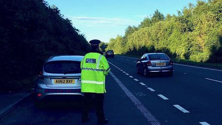 Police patrols are continuing on the A143 and A146. Picture: Norfolk Police
