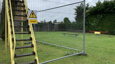 The playground set to be turned into two new homes, at the back of number 77, St Peter's Road PICTUR