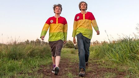 David Atthowe and Jordan Eva, from walking group Nomadic Lion, will be walking around the county to