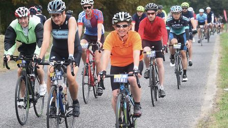 Cyclists taking part in the Tour de Broads. Picture: DENISE BRADLEY