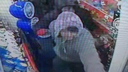 Police have released CCTV images of two men they would like to speak to in connection with three sho